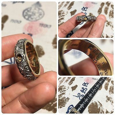 Beautiful Ring Ei Khai Movable Thai Amulet Luck Rich Charm Protect Size 11