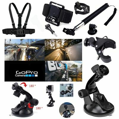 Pole Head bike Mount Strap Hero 2 3 4 5 Action Camera Accessories Set Kit GoPro
