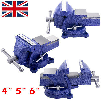 "4"" 5"" 6"" Engineer Bench Vice Vise 360° Swivel Base Workshop Clamp Jaw Table Work"