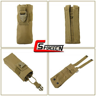 Military Tactical Molle Radio Pouch Case Bag for PRC 148 MBITR Talkie Walkie Tan