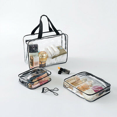 Hot Clear Cosmetic Toiletry PVC Women Fashion Handbag Travel Wash Makeup Bag