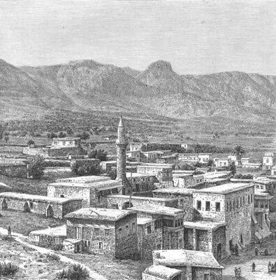 CYPRUS. Kyrenia c1885 old antique vintage print picture