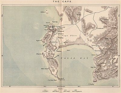 The Cape. South Africa. Cape Colony 1885 old antique vintage map plan chart
