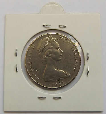 New Zealand 1981 20c Upset / Rotated Error Coin