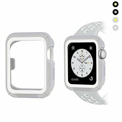 Apple Watch 42mm Case Shock-proof Shatter-resistant Series 2/1 Gray White