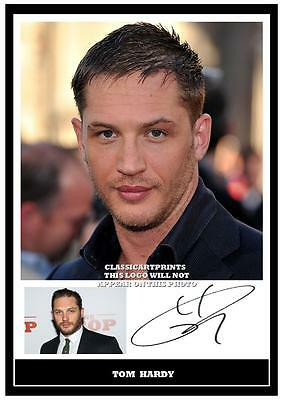 237. Tom Hardy   Signed  A4 Photograph Great Gift