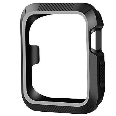 Apple Watch Case 38mm Shock-proof Shatter-resistant Series 2/1 Black Gray