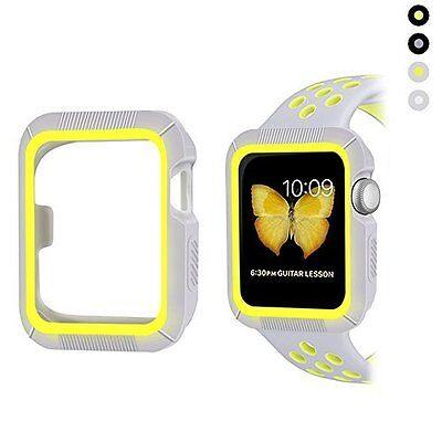 Apple Watch 38mm Case Shock-proof Shatter-resistant Series 2/1 Gray Yellow
