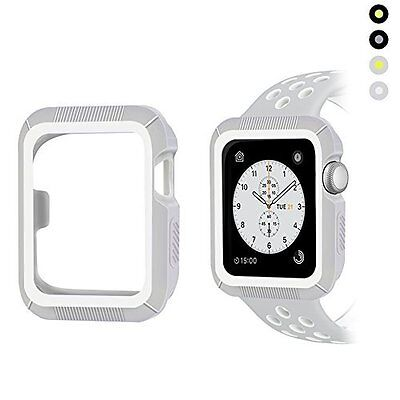 Apple Watch 38mm Case Shock-proof Shatter-resistant Series 2/1 Gray White