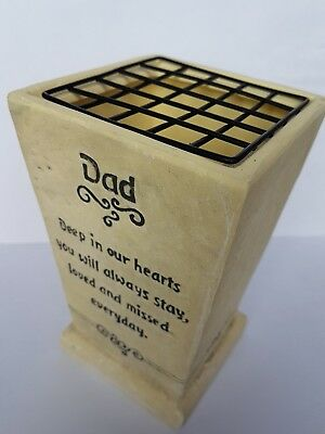 Dad Memorial Graveside Grave Flower Pot Vase With Verse Farther
