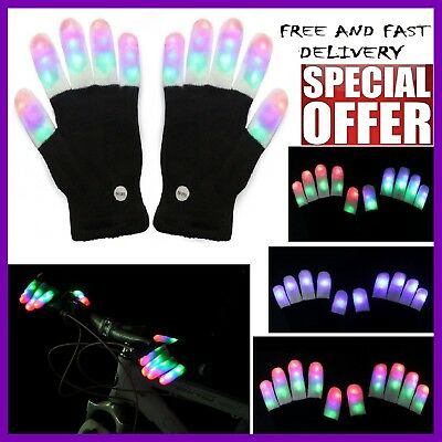 Calming Autism Sensory LED Lighting Gloves Special Needs Kids Flashing Fingers