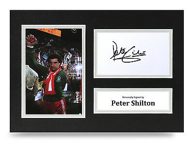 Peter Shilton Signed A4 Photo Display Nottingham Forest Memorabilia Autograph