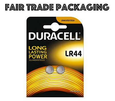 2 x Duracell LR44 Alkaline Button Cell Batteries Hexbug 1.5V LR 44 A76 AG13 357