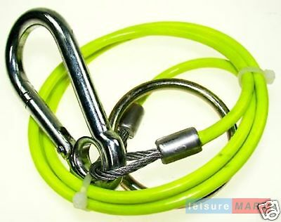 Trailer caravan 3mm breakaway Hi Viz cable split ring 1m for towing fluorescent