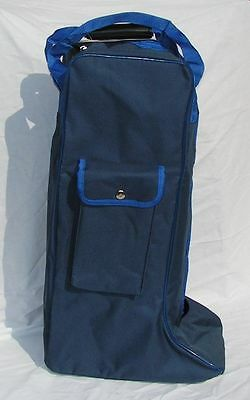 NEW Rhinegold Long Boot Bag  ideal Tack Room Travelling Storage - Blue
