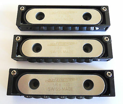 (3) Schneeberger  Sr6-100 Cnc Linear Roller Bearings/blocks