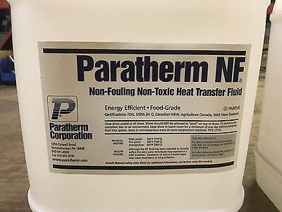 2 PC. 5 Gallon Paratherm NF Non-Fueling Non-Toxic Heat Transfer Fluid