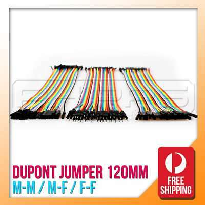 120 pcs x 120mm, Male-Female, Male to Male and Female to Female Dupont Jumper