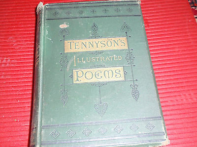 Antique Book Tennyson's Illustrated Poems  1882.... Poetry