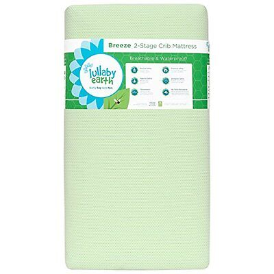 Lullaby Earth Breeze 2- Stage Crib Mattress - Green