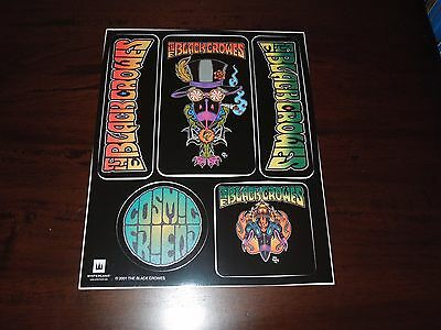 "2001 The Black Crowes  ""Cosmic Friends"" Sticker Sheet X5 Stickers New Old Stock"