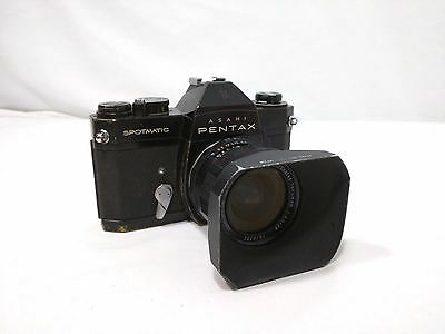 Asahi Pentax Spotmatic SP 2 Camera and Takumar F3.5 28 mm Lens w/ Hood