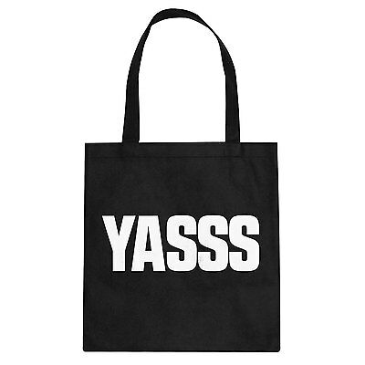 Tote Yasss Cotton Canvas Tote Bag #3055