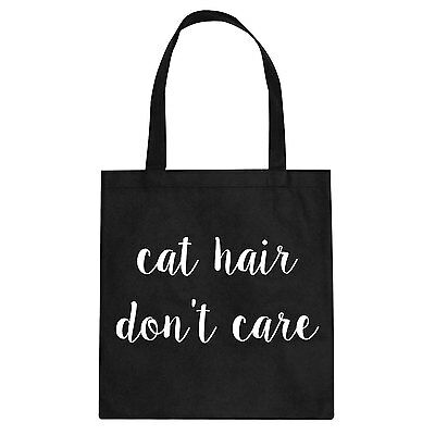 Tote Cat Hair Don't Care Cotton Canvas Tote Bag #2005