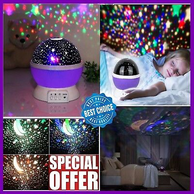 Calming Autism Autistic Sensory For Boys Toy Starlight Projector ADHD Night Lamp