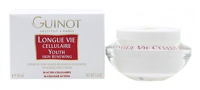 Guinot Longue Vie Cellulaire Youth Skin Renewing Vitalizing Face Cream. New