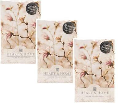Pack of 3 Heart and Home Magnolia Blossom Large Scented Sachet with Hanger