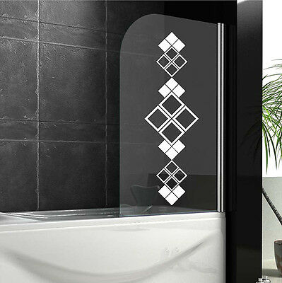 Bathroom wall stickers ORNAMENT Shower screen stickers WALL QUOTES DECALS  N23