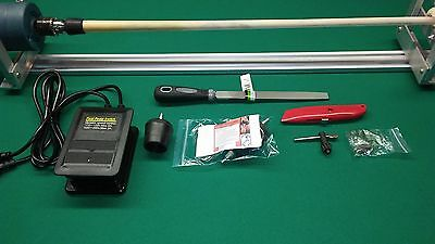 POOL CUE REPAIR LATHE CUE TIP SHAFT WRAP REFINISH TOOL  with HOW TO MANUAL