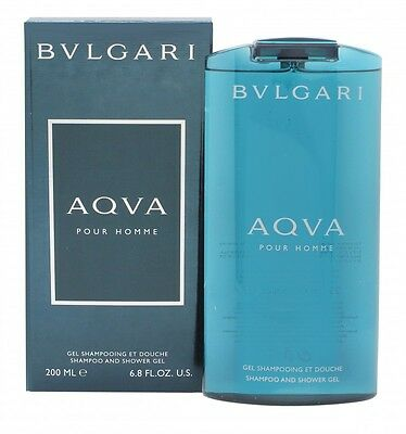 Bvlgari Aqva Pour Homme Shampoo & Shower Gel - Men's For Him. New