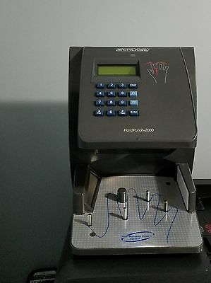 Schlage Ingersoll Rand, RSI Biometric Hand Punch 2000E Time Clock Novatime