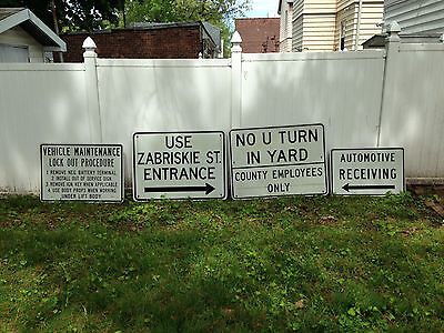 Lot of Bergen County Hackensack New Jersey DPW Signs now rubble