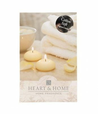 Pack of 6 Heart and Home Cotton Soft Large Fragrance Scented Sachet with Hanger