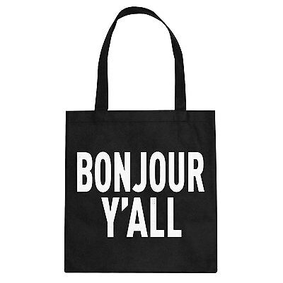 Tote Bonjour Yall Cotton Canvas Tote Bag #3028