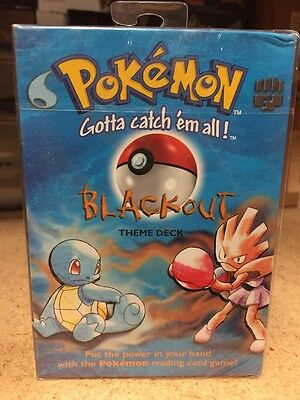 Pokemon Base set  Blackout Theme Deck For Card Game Onix CCG TCG