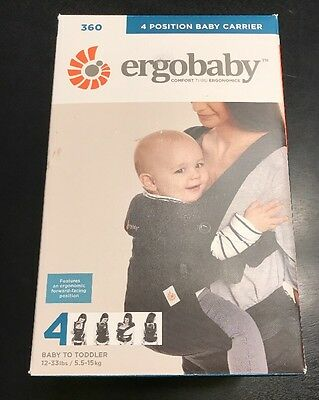 ErgoBaby Four Position 360 Carrier - Pure Black - NEW FREE SHIPPING