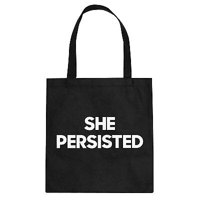 Tote She Persisted Cotton Canvas Tote Bag #3194