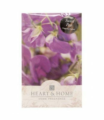 Heart and Home Sweet Pea Large Scented Sachet with Hanger