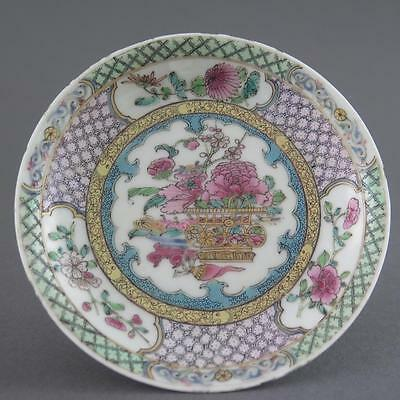 Fine Antique Chinese Yongzheng Famille Rose Porcelain Saucer