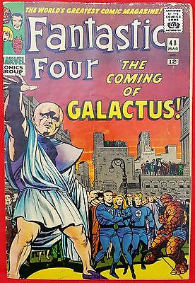 Fantastic Four 48 Silver Age 1965 1st app of Galactus 1st app Silver Surfer vg/f