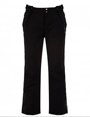 Mens Dare2b PROFUSE BLACK Salopettes Ski Pants Sizes M - XL SOFTSHELL SHORT LEG