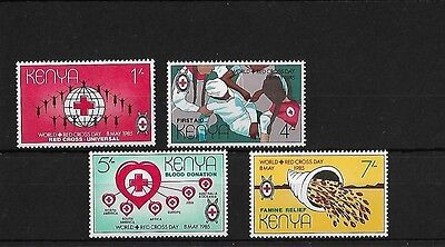 Kenya Sg348/51, 1985 World Red Cross Day, Mnh