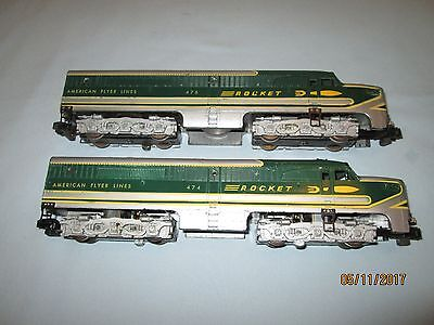 American Flyer #474 & 475 Rocket Alco PA Diesel Units. Runs Well. VG+ to EX-