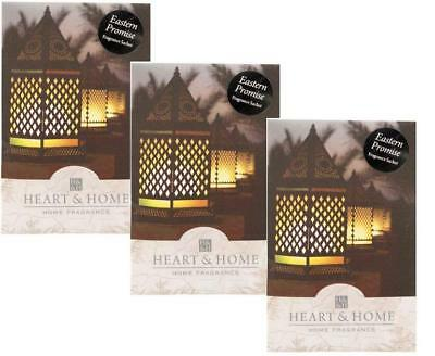 Pack of 3 Heart and Home Eastern Promise Large Scented Sachet with Hanger