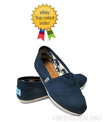 Tom's Classics Navy Blue Women Shoes.brand New With Tag.all Sizes.100% Authentic
