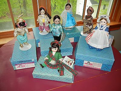 Madame Alexander International Vintage Dolls Original Boxes Lot of 7 1979 -1982